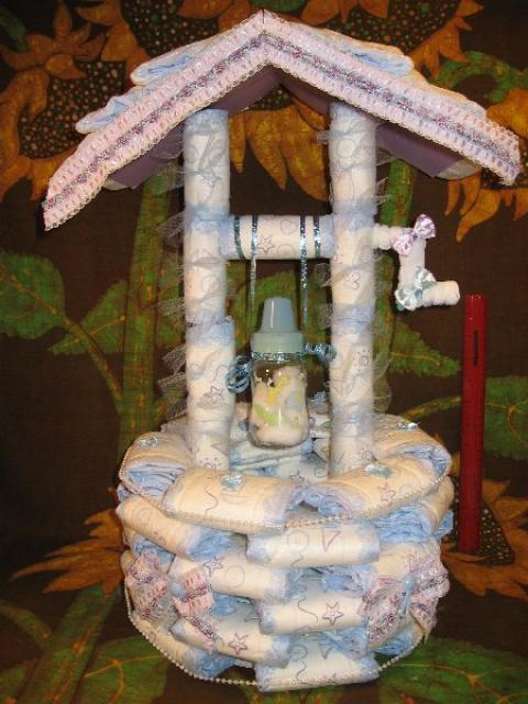 baby shower wishing well diaper wishing well