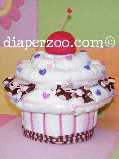 Lovely Diaper Cupcake Musical Jewelry Box E BOOK